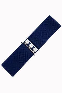 Vintage Stretch Belt, Navy