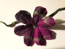 Haargummi Filzblütentraum handmade