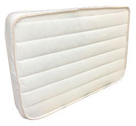 Colchón Para Cambiador Hule Espuma 7 cm Franjas Blancas