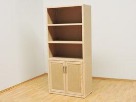 Librero Contempo Con Puertas Sin Pintar (#0296)