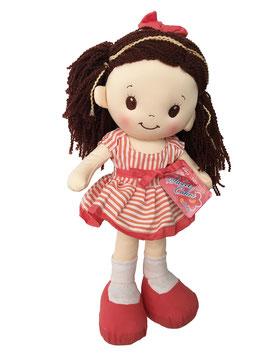 Muñeca de Trapo y Tela Lacy Rosa