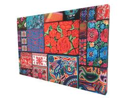 Cuadro Decorativo 80 x 120 x 7 cm Modelo K0014 Collage Mexicano (#508)