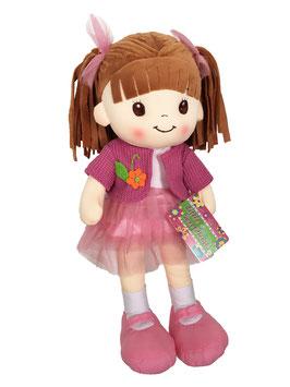 Muñeca de Trapo y Tela Lorena Rosa Falda de Tul