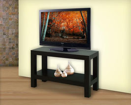 Mesa para TV Contempo 60 cm Con Entrepaño Chocolate (#148)