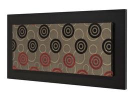 Cuadro Decorativo 40 x 100 Modelo S0006 Con Marco Chocolate