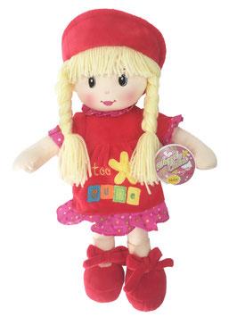 Muñeca de Trapo y Tela Niobe Rojo