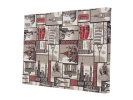 Cuadro Decorativo 80 x 120 x 7 cm Modelo S0001 Moscú Gris (#508)