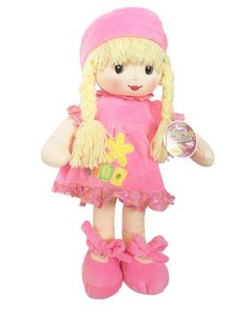 Muñeca de Trapo y Tela Niobe Rosa