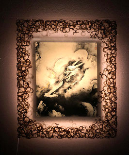 横山大観「龍興而致雲」と和紙ックセット