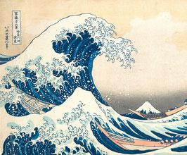 葛飾北斎 富嶽三十六景「神奈川沖浪裏」作品のみ ※和紙に印刷