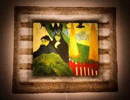 ゴーギャン「アルルの病院の庭にて」と和紙ックセット