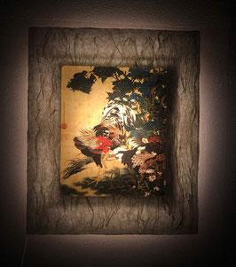 伊藤若冲「紫陽花双鶏図」と和紙ックセット