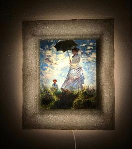モネ「散歩・日傘をさす女性」と和紙ックセット