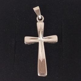 Kreuzanhänger Silber glänzend