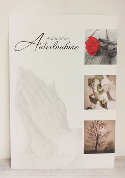 Kondolenzkarte Betende Hände