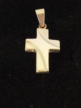 Kreuzanhänger Silber Glanz modern