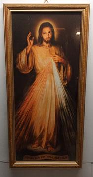 Bild Barmherziger Jesus mit Rahmen