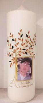 Trauerkerze Baum mit Foto