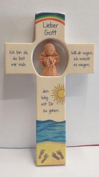 Kinderkreuz mit Schutzengel und Sonne
