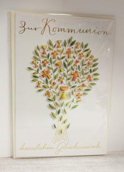 Kommunionkarte Lebensbaum