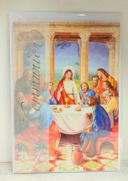 Kommunionkarte Abendmahl