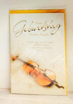 Geburtstagskarte Violine