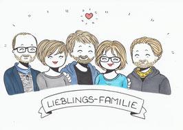 5 Personen-Doodle