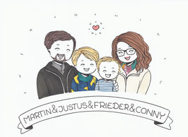 4 Personen-Doodle