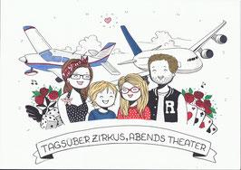 4 Personen-Doodle inkl. besonderen Wünschen
