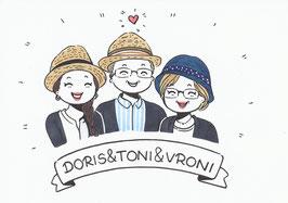 3 Personen-Doodle inkl. kleinen Wünschen