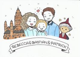 3 Personen-Doodle inkl. besonderen Wünschen