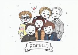 6 Personen-Doodle