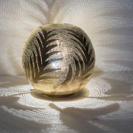 Deko-Tischlampe Ball Leaf