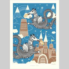 Poster Dragon sky
