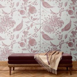 Wandpaneel Flowers and Birds