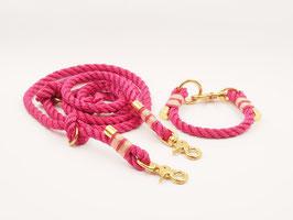 Set aus Kunst-Tau bestehend aus Halsband & Leine