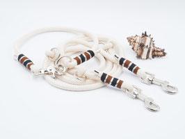 Set aus Natur-Tau bestehend aus Halsband & Leine