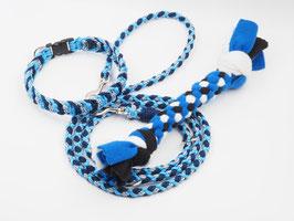 Führleine, Halsband und Zerrspielzeug