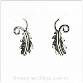 English Oak Leaf Sprig Earrings (studs)