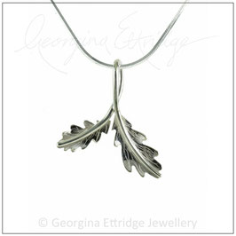 Two English Oak Leaves (mini) Necklace