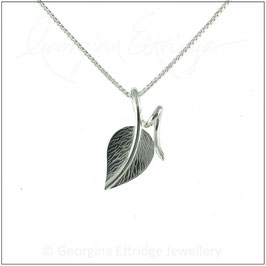 Small Engraved Leaf Necklace