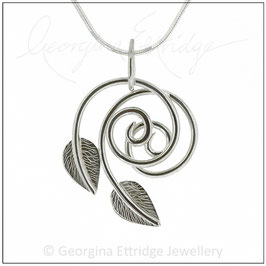 Twirling Leaves Necklace
