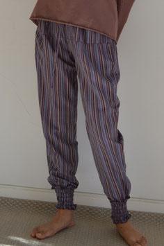 Pantalón largo rayas morado