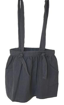 Falda con tirantes gris