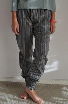 Pantalón largo rayas azul