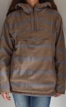 Cazadora canguro marrón