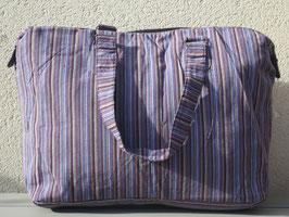 Bolsa con rayas morada