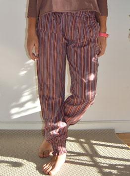 Pantalón Iargo rayas rosa