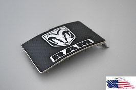 #DRE - Dodge RAM Buckle - Gürtelschnalle - Carbon Optik