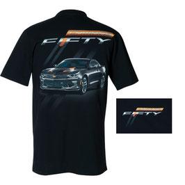 Camaro Fiftieth Anniversary T-Shirt - Camaro Fifty - Schwarz
